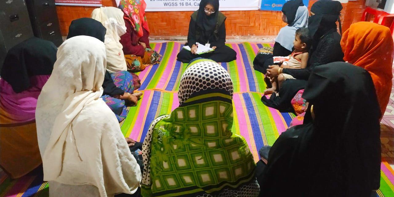 CARE session at Rohingya refugee camp, Cox's Bazar, Bangladesh