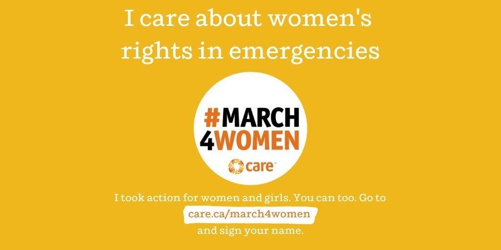 CARE Canada #March4Women