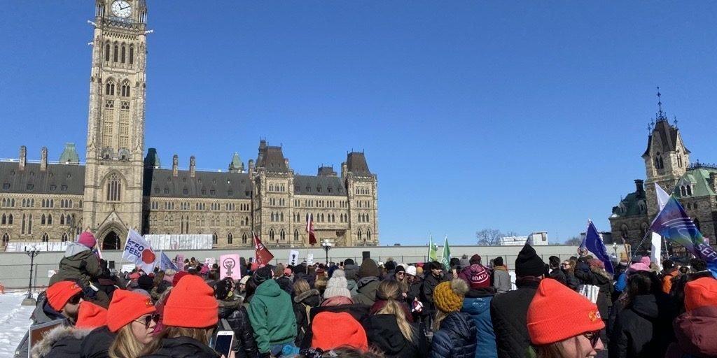 Parliament Hill, Ottawa Women's March 2020