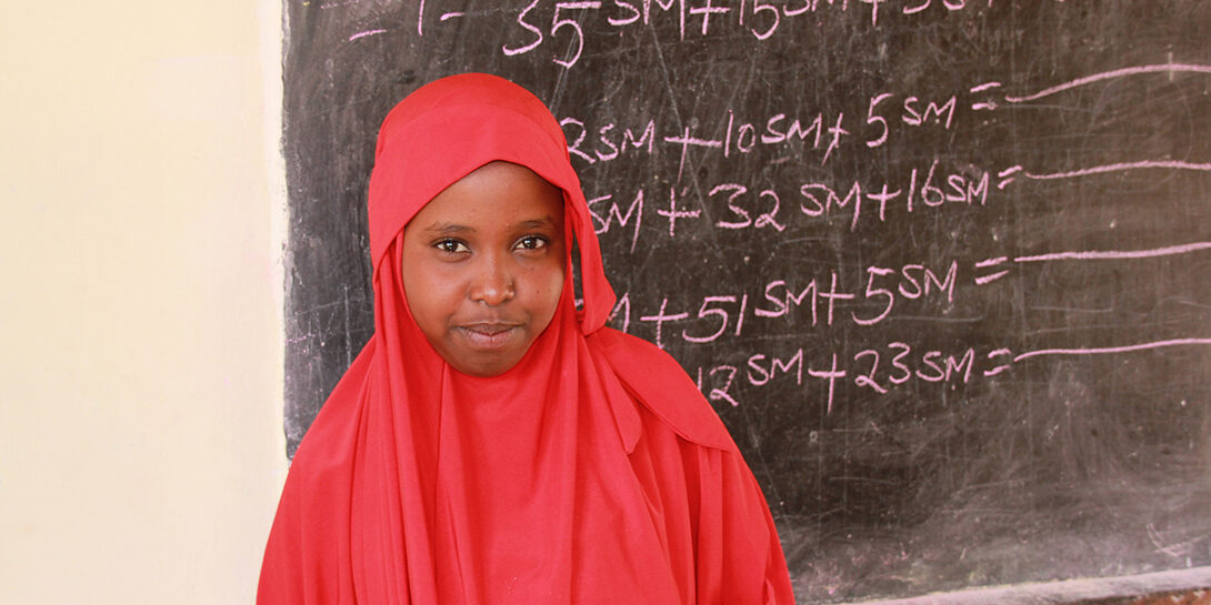Iswak lives with her brothers and her grandmother in a camp for internally displaced people in Burao, Somaliland.