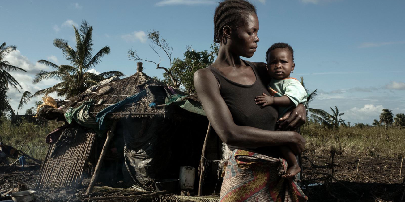Lucia Francisco, 33, is a mother of six children. She is seen with her youngest daughter who is six months old. She is living near the village of Tica, an area greatly impacted by Cyclone Idai that is not just affecting her in Mozambique but is affecting 2.6 million people across three countries.