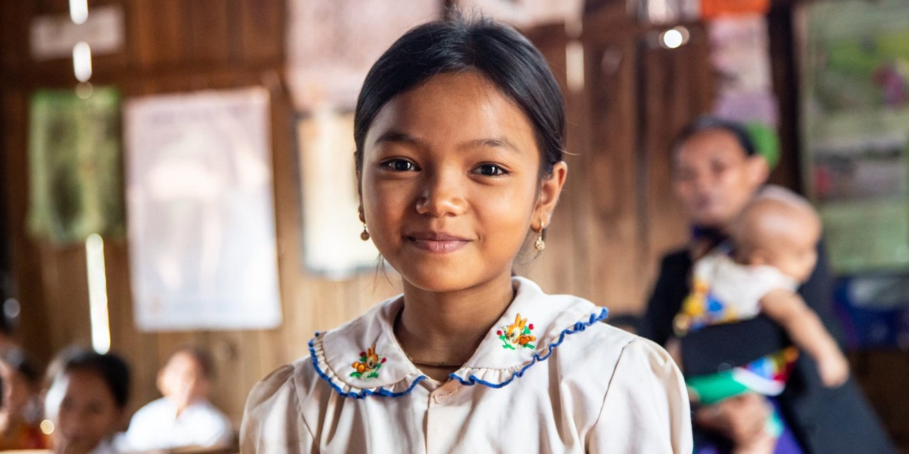 Pheakany is from Cambodia andi s nine years old and she's in Grade 3