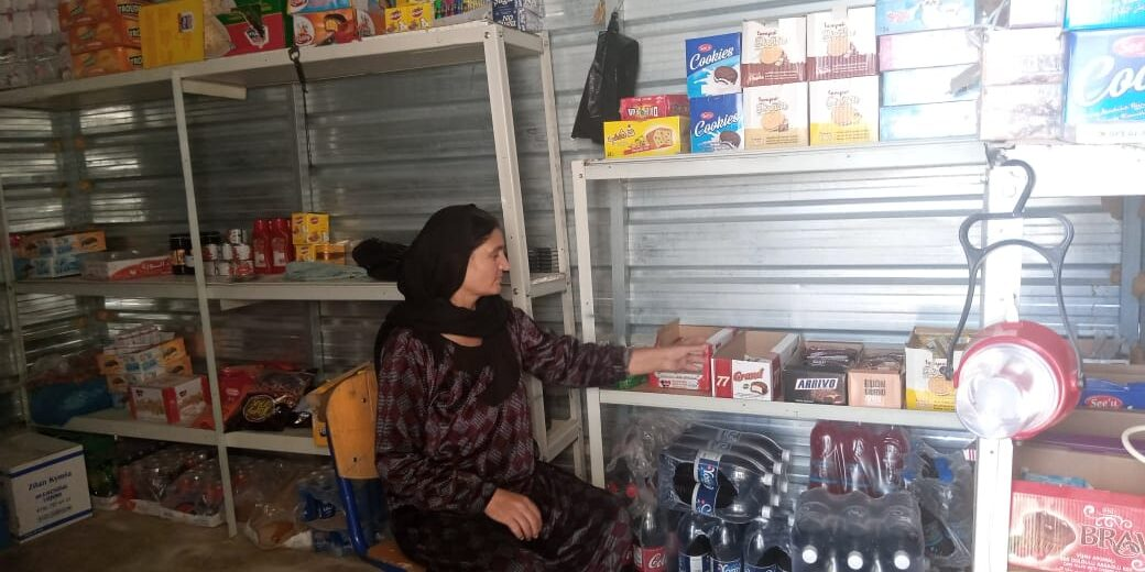 Khonaf Saido Abdullah, 54, living in Rwanga camp, Northern Iraq is a mother of seven children and a participant of CARE's and Lotus Flower's business incubator project. CARE/Lotus Flower
