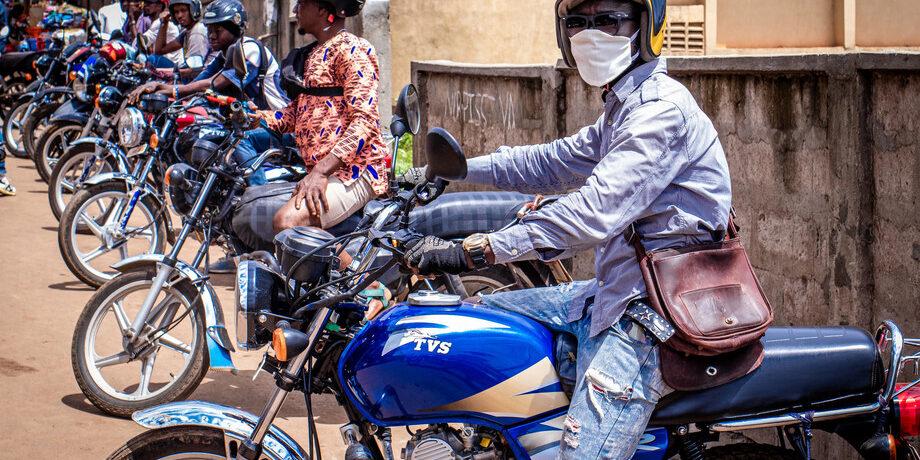 Saidu M Swaray, bike rider Sierra Leone. Fatmata Jalloh/CARE