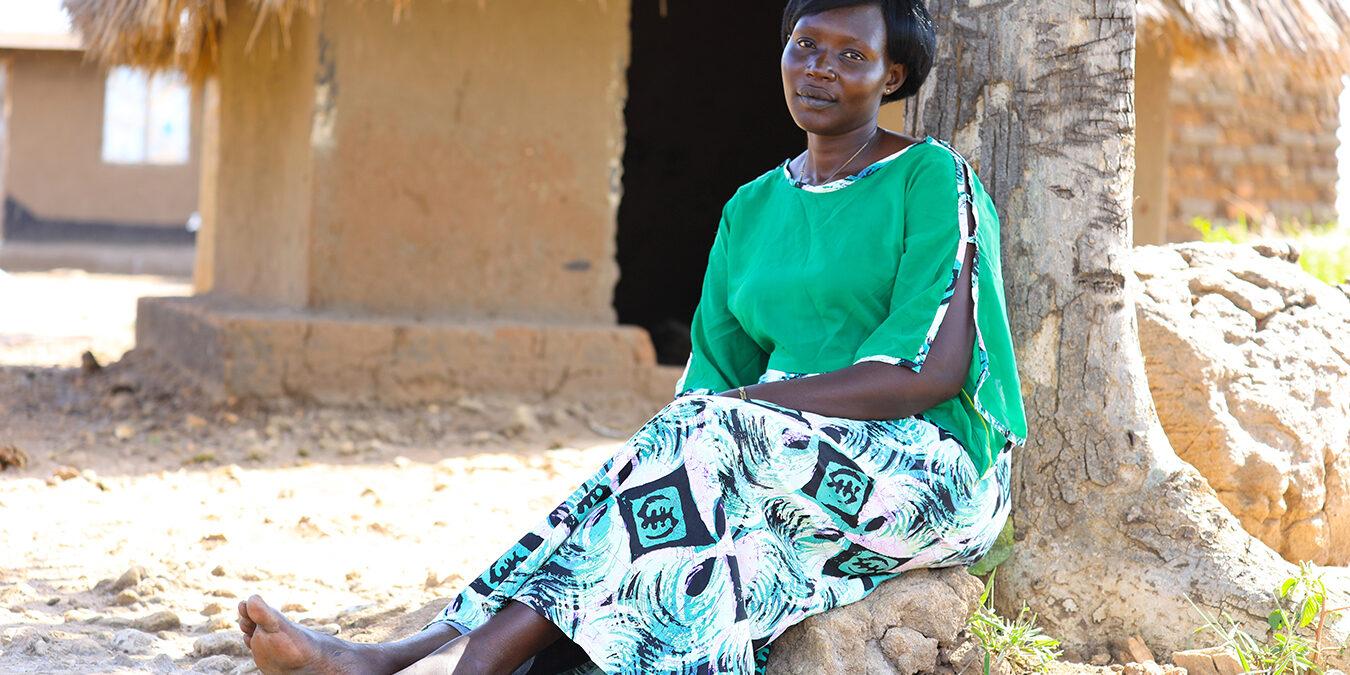 Halatu Benjamin in the Omugo settlement in northern Uganda. ©CAREUganda
